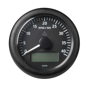 "VDO Marine 3-3\/8"" (85MM) Viewline Tach w\/Multifunction Display - 0 to 4000 RPM - Black Dial  Bezel [A2C59512391]"