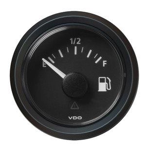 "VDO Marine 2-1\/16"" (52MM) Viewline Fuel Level Gauge Empty\/Full - 8-32V - 240 - 33.5 OHM - Black Dial  Triangular Bezel [A2C59514096]"