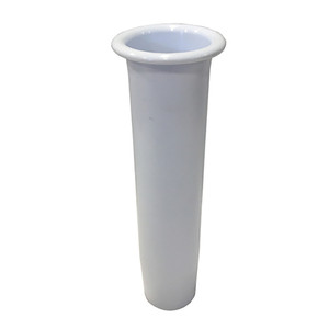 "Tigress Lipped Insert f\/10"" Flared Rod Holder - White [88152-8]"