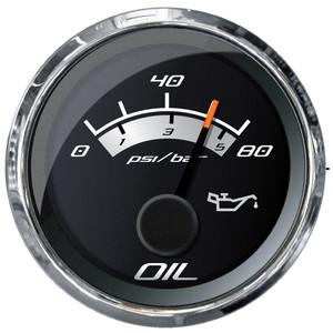 """Faria Platinum 2"""" Oil Pressure Gauge - 80 PSI [22024]"""