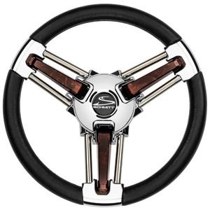 "Schmitt  Ongaro Burano Wheel - 14"" Black Polyrethane - 3\/4"" Tapered Hub [PU105111-04]"