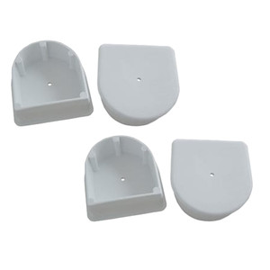 Dock Edge Small End Plug - White *4-Pack [DE1027F]