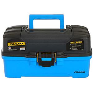 Plano 3-Tray Tackle Box w\/Dual Top Access - Smoke  Bright Blue [PLAMT6231]