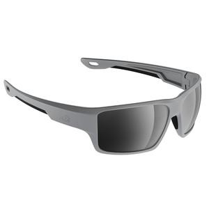 H2Optix Ashore Sunglasses Matt Grey, Grey Silver Flash Mirror Lens Cat. 3 - AntiSalt Coating w\/Floatable Cord [H2006]