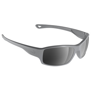 H2Optix Beachwalker Sunglasses Matt Grey, Grey Silver Flash Mirror Lens Cat. 3 - AR Coating [H2037]