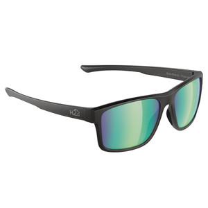 H2Optix Coronado Sunglasses Matt Black, Brown Green Flash Mirror Lens Cat. 3 - AR Coating [H2029]