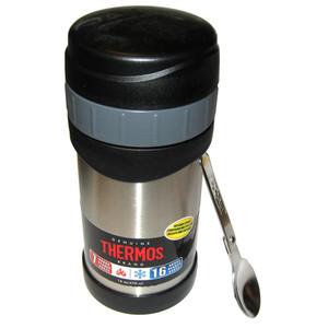 Thermos 16oz Stainless Steel Food Jar w\/Folding Spoon - 7 Hours Hot\/9 Hours Cold [2340SSW4]