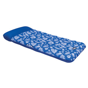 Aqua Leisure Supreme Oversized Controued Lounge Hibiscus Pineapple Royal Blue w\/Docking Attachment [APL19977]