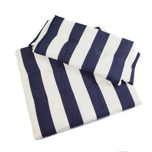 Whitecap Seat Cushion Set f\/Directors Chair - Navy  White Stripes [97240]