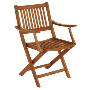 Whitecap Folding Chair w\/Arms - Teak [63070]