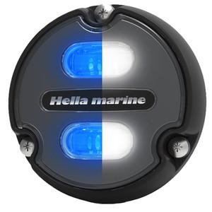 Hella Marine Apelo A1 Blue White Underwater Light - 1800 Lumens - Black Housing - Charcoal Lens [016145-001]
