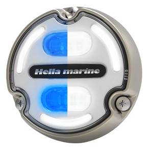 Hella Marine Apelo A2 Blue White Underwater Light - 3000 Lumens - Bronze Housing - White Lens w\/Edge Light [016147-101]