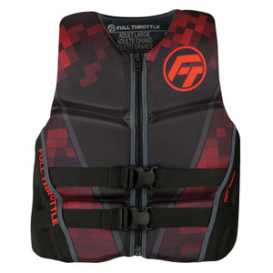 Full Throttle Mens Rapid-Dry Flex-Back Life Jacket - XL - Black\/Red [142500-100-050-22]