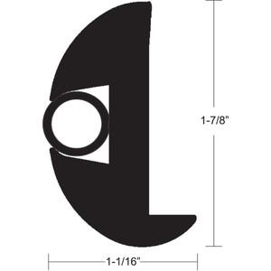 """TACO Flex Vinyl Rub Rail Kit - Black w\/Black Insert - 50' - 1-7\/8"""" x 1-1\/16"""" [V11-2423BBK50-2]"""