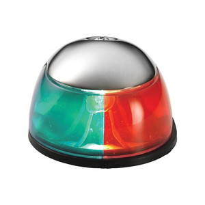 Attwood 2-Mile Deck Mount, Bi-Color Red\/Green Combo - 12V - Stainless Steel Housing [3810-7]