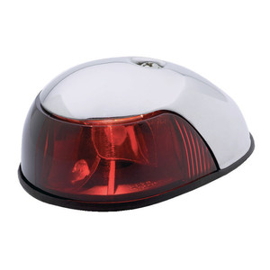 Attwood 2-Mile Deck Mount, Red Sidelight - 12V - Stainless Steel Housing [3820R7]
