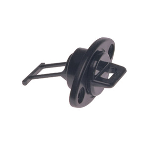 "Beckson 1"" Drain Plug Screw Type w\/Gasket - Black [DP10-B]"