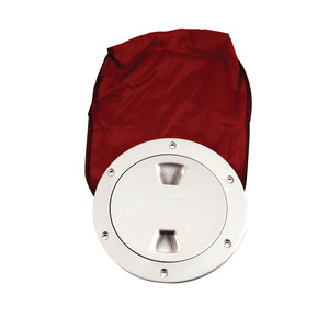 "Beckson 4"" Stow-Away Deck Plate - White w\/12"" Bag [DP40BW]"