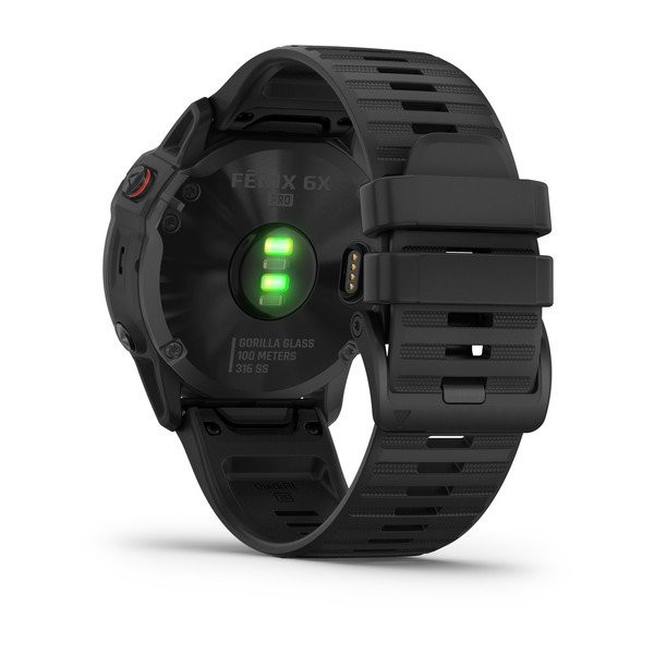 fenix 6X Pro, Black with Black Band