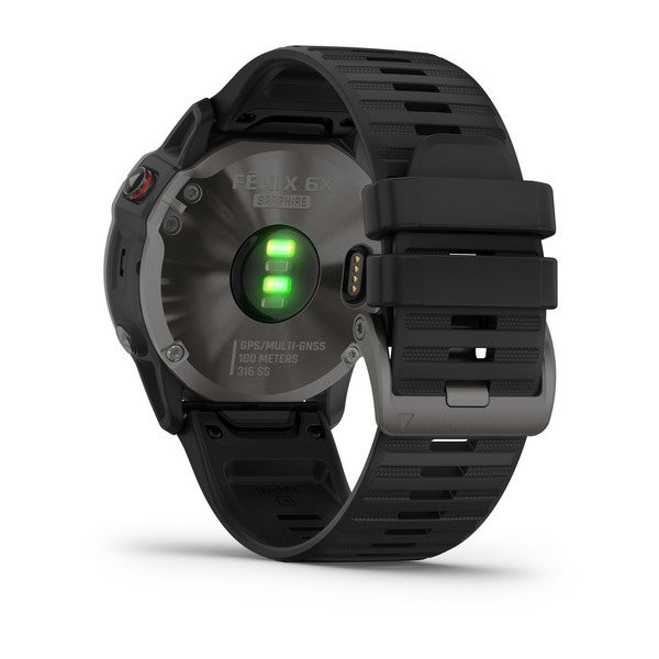 fenix 6X Sapphire, Carbon Gray DLC with Black Band