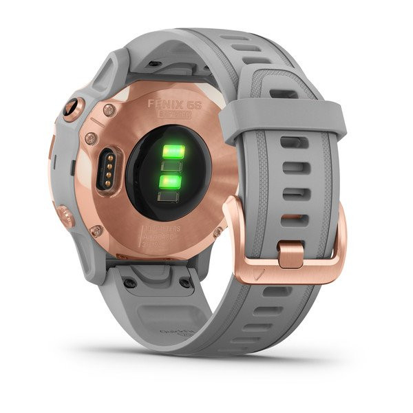 fenix 6S Sapphire, Rose Gold-tone with Powder Gray Band