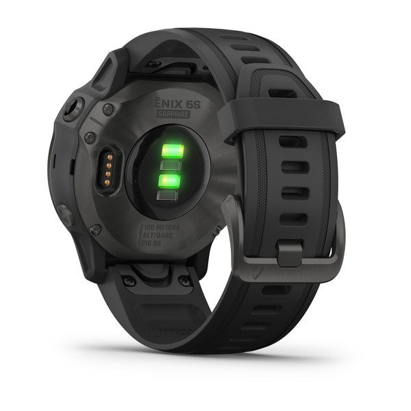fēnix® 6S Sapphire, Carbon Gray DLC with Black Band