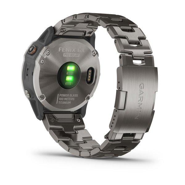fenix 6X Pro Solar, Titanium with Vented Titanium Bracelet