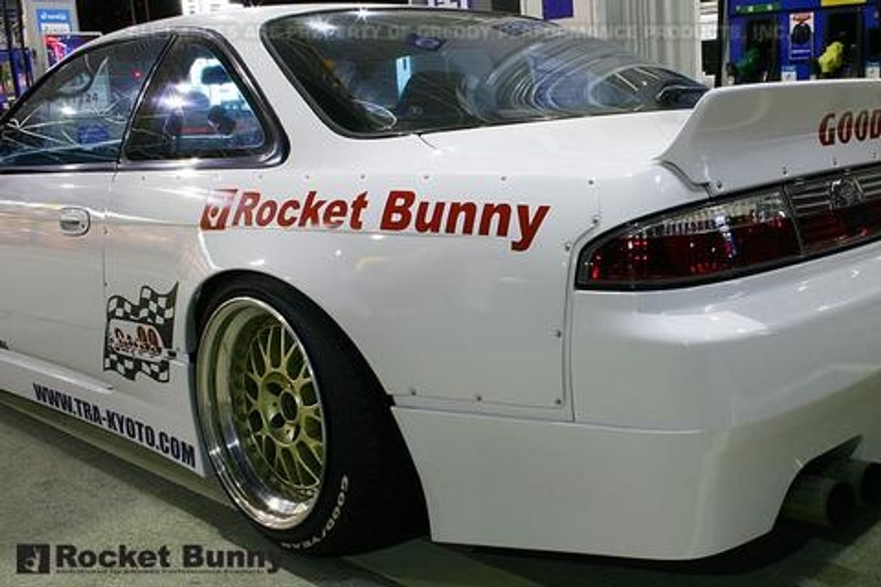 Greddy 94 98 Nissan 240sx Silvia S14 Rocket Bunny Rear Wide Panel Over Fenders Ver 1 Frp Only Srz Performance