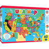Educational Maps - USA Map w/ State Pieces 60 Piece Jigsaw Puzzle