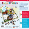 Wood Fun Facts of Farm Friends - 48 Piece Kids Puzzle by Jenny Newland