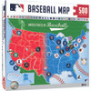MLB  Baseball Map Puzzle 500 Piece Jigsaw Puzzle