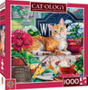 Cat-ology Blossom 1000 Piece Square Jigsaw Puzzle by Jenny Newland