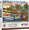 Country Escapes - Away From it All - 550 Piece Linen Jigsaw Puzzle