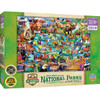 National Parks - National Parks Map Right Fit 100 Piece Kids Puzzle