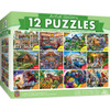 Artist Gallery Collection - A Taste of Everything 12-Pack Jigsaw Puzzles