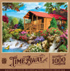 Time Away - Cascading Cabin 1000 Piece Jigsaw Puzzle