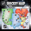 NHL Hockey Map 500 Piece Jigsaw Puzzle