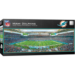 Miami Dolphins 1000 Piece Stadium Panoramic Jigsaw Puzzle