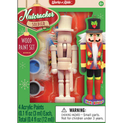 Soldier Nutcracker Ornament Wood Paint Kit
