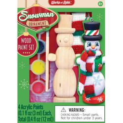 Snowman Ornament Wood Paint Kit