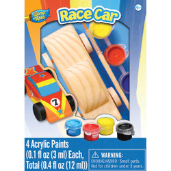 Race Car Mini Wood Paint Kit