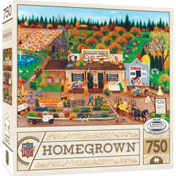 Homegrown Peterson Farms - 750 Piece Linen Jigsaw Puzzle by Cindy Mangutz