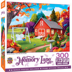 Memory Lane Harvest Breeze - Large 300 Piece EZGrip Jigsaw Puzzle by Alan Giana