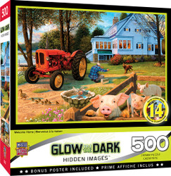 Hidden Image Glow in the Dark Welcome Home 500 Piece Jigsaw Puzzle