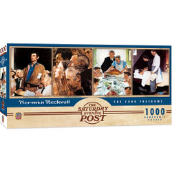 Saturday Evening Post Panoramic Norman Rockwell The Four Freedoms 1000 Piece Panoramic Jigsaw Puzzle