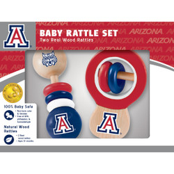 Arizona Real Wood Baby Rattles ( 2-Pack)