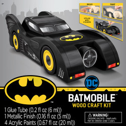 Batmobile Buildable Licensed Wood Paint Kit