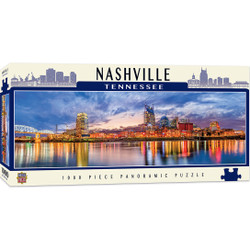 City Panoramics  Nashville Panoramic 1000 Piece Panoramic Jigsaw Puzzle