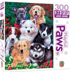Playful Paws Fluffy Fuzzballs Large 300 Piece EZGrip Jigsaw Puzzle by Jenny Newland
