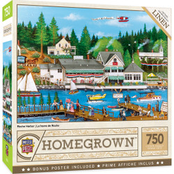 Homegrown Roche Harbor - 750 Piece Linen Jigsaw Puzzle by Cindy Mangutz